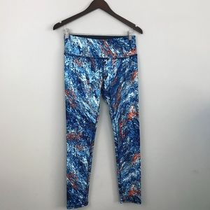 RBX Watercolor Printed Tight Fit Workout Legging M